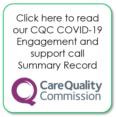 CQC COVID-19 Engagement and support call 